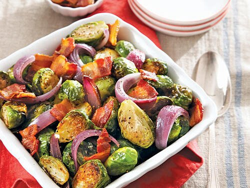 Lighter american side dish recipes cooking light brussels sprouts with bacon forumfinder Gallery