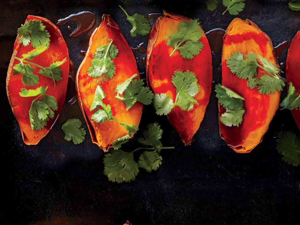 roasted sweet potatoes with smoked paprika honey butter