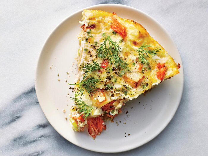 Smoked salmon breakfast casserole recipe cooking light smoked salmon breakfast casserole forumfinder Image collections