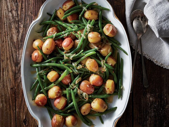 Southern green beans and potatoes recipe cooking light southern green beans and potatoes forumfinder Image collections