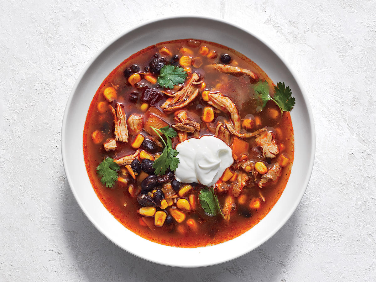 Instant Pot Tex Mex Chicken And Black Bean Soup Recipe Cooking Light