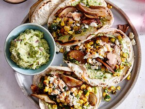Healthy mexican foods cooking light mushroom and charred corn tacos with guacamole world cuisine 100 mexican recipes forumfinder Images