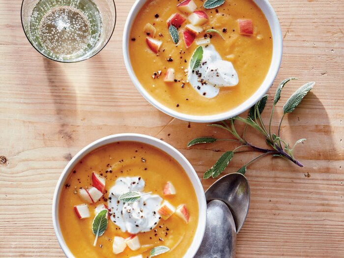 Sweet potato and white bean soup recipe cooking light sweet potato and white bean soup forumfinder Images