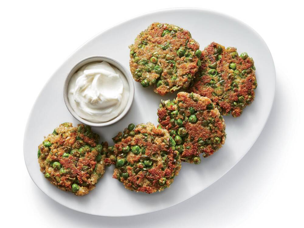 Indian spiced pea fritters recipe cooking light indian spiced pea fritters forumfinder Images
