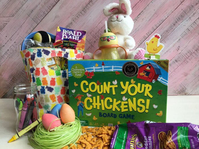 14 ideas for a healthier easter basket cooking light healthier easter basket ideas for kids negle Gallery