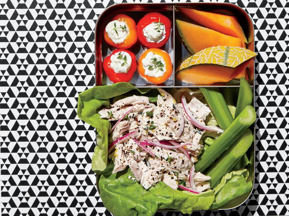 How to pack lunch if your childs school is nut free cooking light chicken salad lunch box forumfinder Choice Image