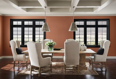 Sherwin Williams Cavern Clay Dining Room