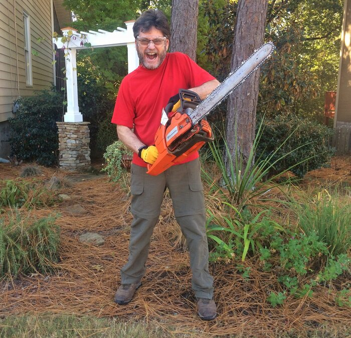 Chainsaw madness southern living chainsaw 1g greentooth Image collections