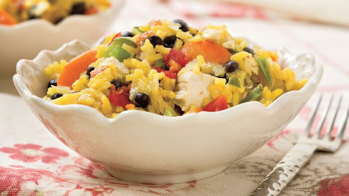 Quick and easy dinner recipes last minute meals from the pantry quick and easy dinner recipes baked chicken and rice with black beans forumfinder Image collections