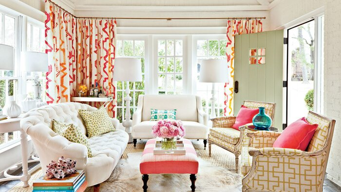 Decorating Sunrooms with Color. 106 Living Room Decorating Ideas   Southern Living