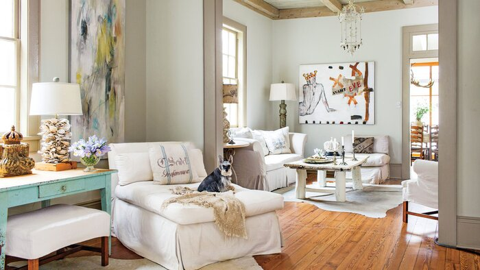 Layer Neutrals for a Relaxed Look. 106 Living Room Decorating Ideas   Southern Living