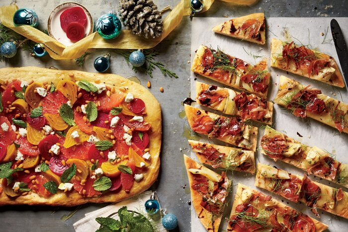 Holiday appetizer recipes southern living roasted fennel and prosciutto flatbread forumfinder Choice Image