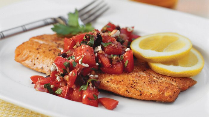Top Rated Main Dishes Pan Seared Trout With Italian Style Salsa