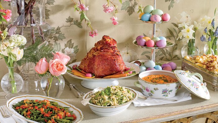 Traditional easter dinner recipes southern living easter dinner forumfinder Image collections