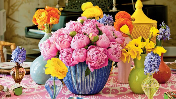 Bridal Luncheon Ideas: Showered in Color - Southern Living