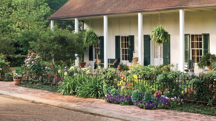 Greet Guests with Flowers - 10 Best Landscaping Ideas - Southern Living