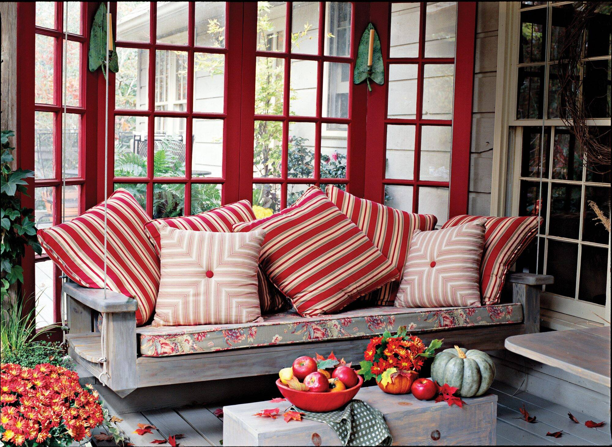 Rx 1405 Bright Red Porch Swing