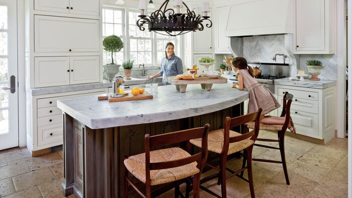 Antique Kitchen With Family Friendly Design