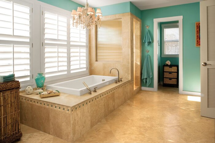 serene bathroom - Beach Bathroom Ideas Decorating