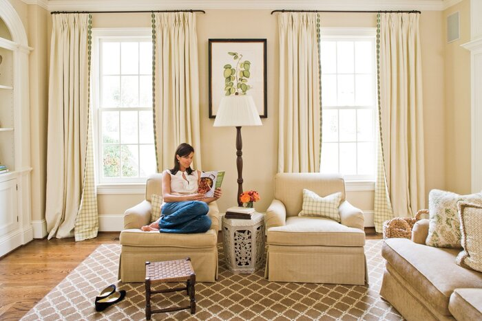 windows treatment ideas for living room. Neutral Window Treatments  Southern Living