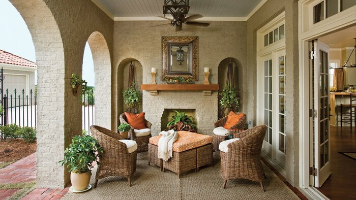 Porch and Patio Design Inspiration - Southern Living on rustic eclectic farmhouse decor, rustic eclectic style, rustic eclectic bedroom, rustic eclectic wedding, rustic japanese decorating, rustic french decorating, rustic european decorating, rustic decorating ideas, rustic italian decorating, rustic country decorating, rustic martha stewart decorating, rustic mexican decorating,