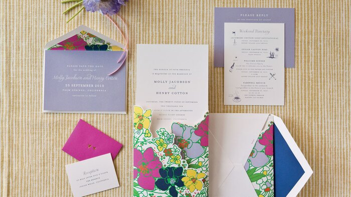 Unique wedding invitations southern living colorful floral invitations stopboris Gallery