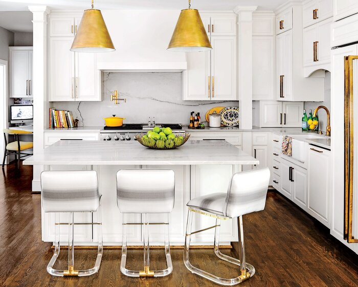 Southern Kitchen Design get the traditional look Glamorized White Kitchen