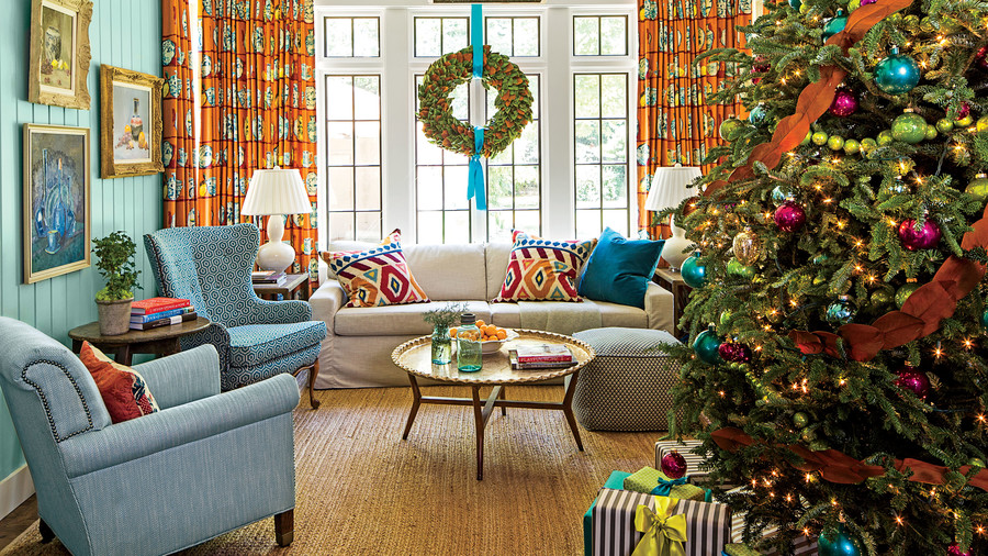 christmas living room decorating ideas. Fine Christmas Keenan Living Room With Christmas Tree Inside Decorating Ideas