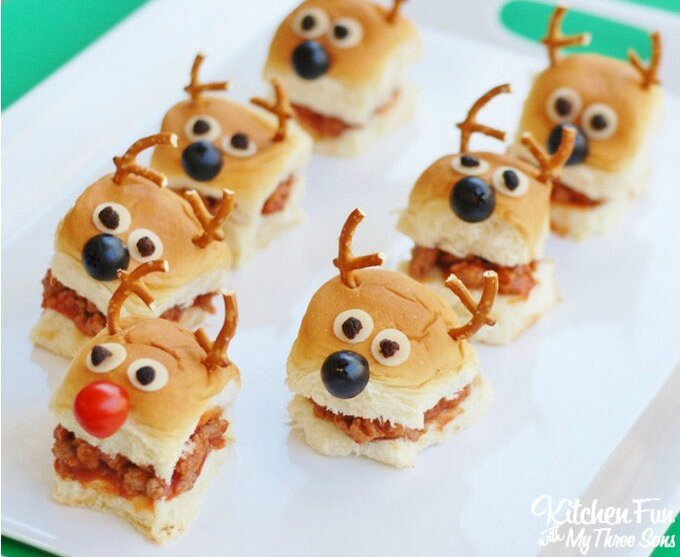 12 christmas in july party ideas we stole from pinterest reindeer sloppy joe sliders forumfinder Image collections