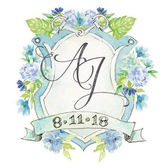 Rx 1808 Wedding Monograms On Etsy Flourishes And Flowers