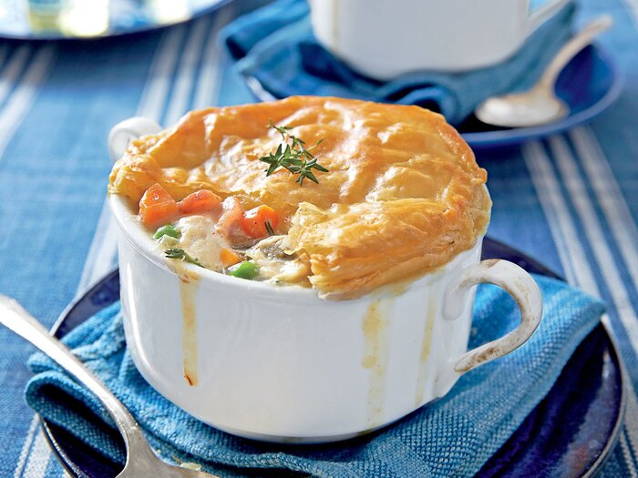 Southern living recipes january 2014 southern living loaded chicken bacon pot pie forumfinder Gallery