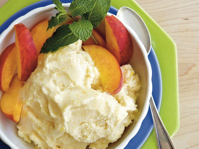 No cook homemade ice cream recipes southern living no cook peach ice cream ccuart Image collections