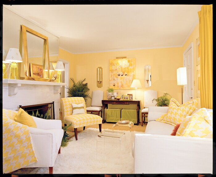 Cheery Yellow Living Room - Southern Living