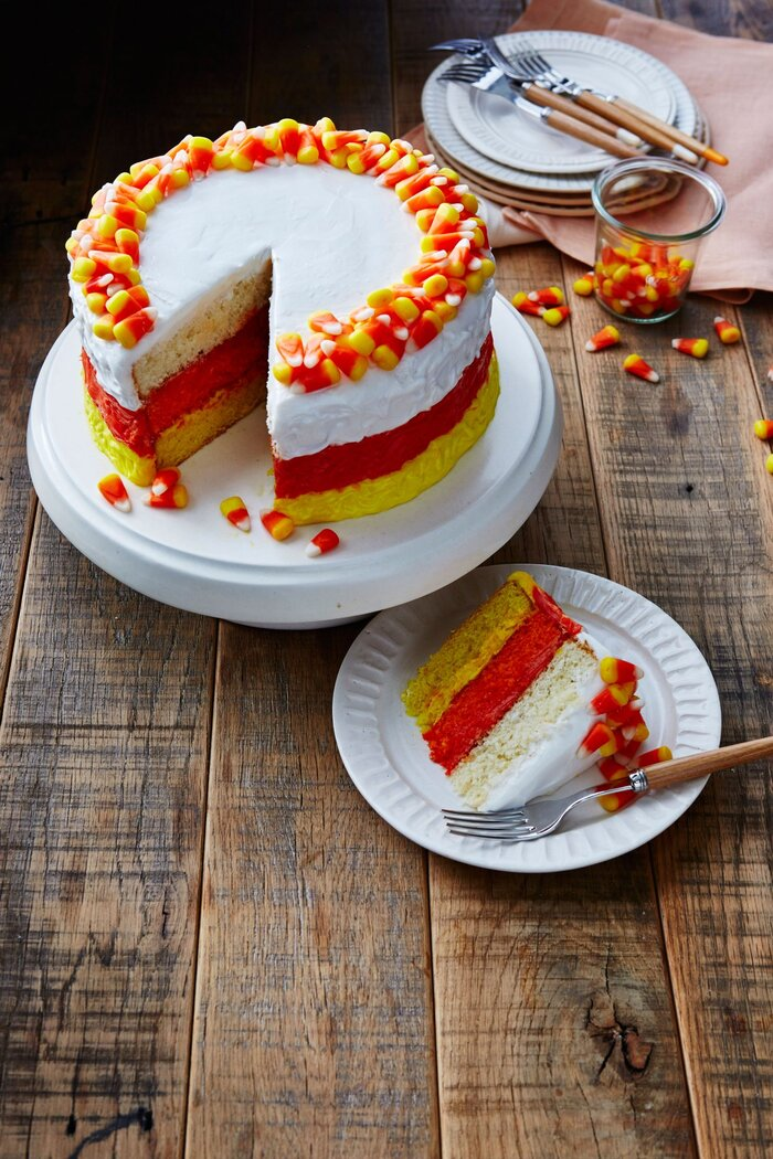 Candy corn cake recipe southern living candy corn cake forumfinder Choice Image