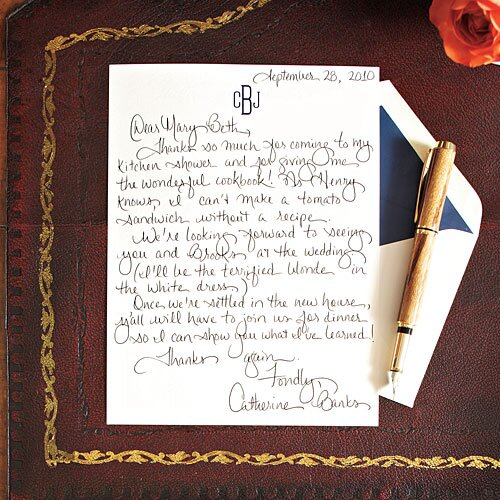How to write a charming thank you note southern living write a charming thank you note expocarfo Image collections
