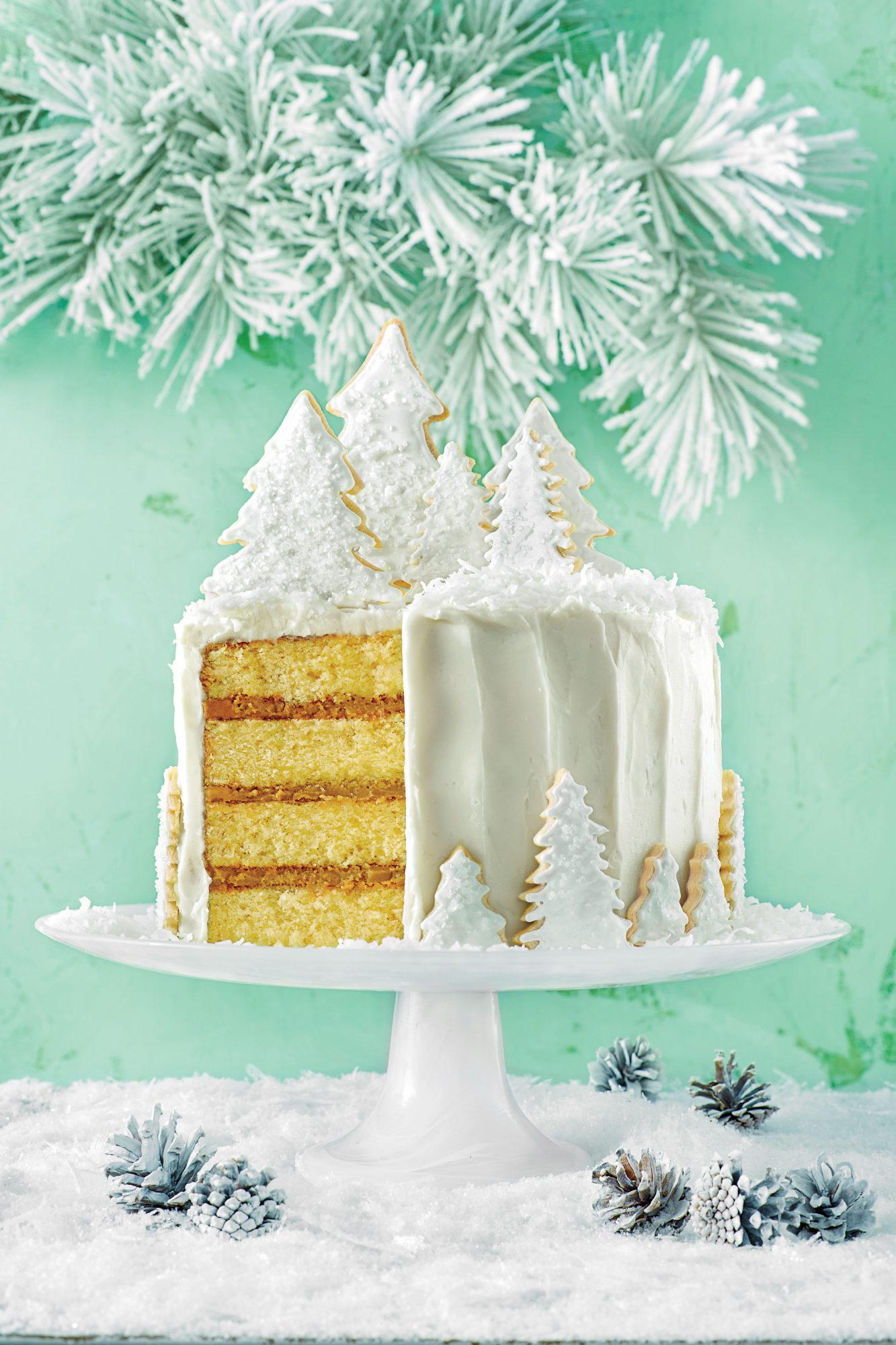 Coconut Cake with Rum Filling and Coconut Ermine Frosting Southern