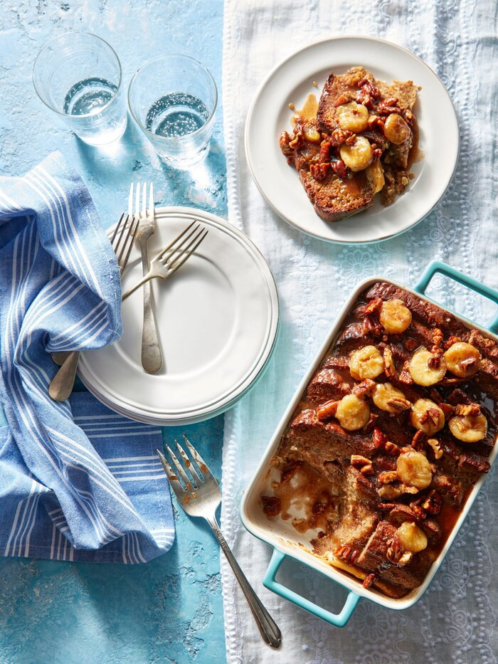 Banana bread french toast casserole recipe southern living banana bread french toast casserole forumfinder Image collections