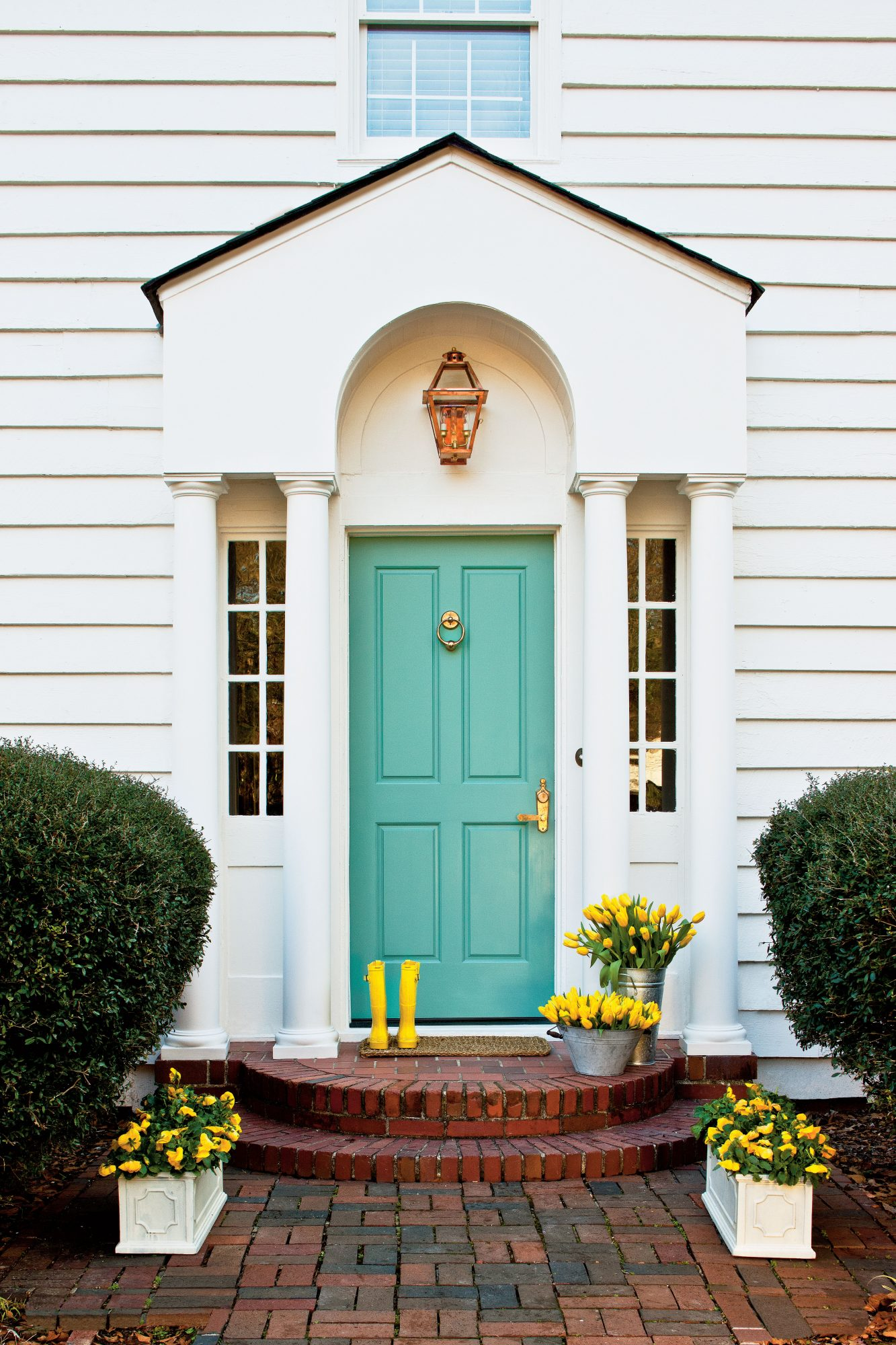 Cool Teal Front Door Yellow Rainboots Awesome - Model Of front door colors for yellow house Model