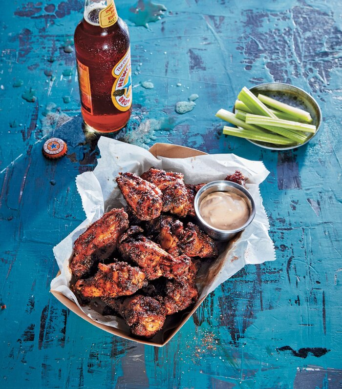 Dry rubbed smoked chicken wings recipe southern living dry rubbed smoked chicken wings forumfinder Gallery