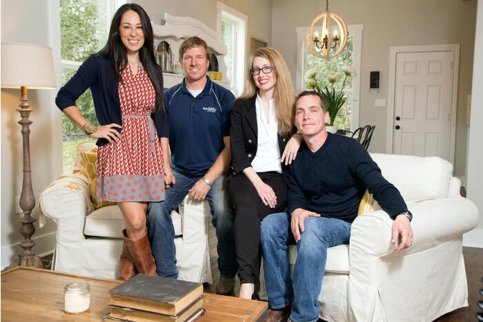 Clint And Kelly Harp With Chip Joanna Gaines