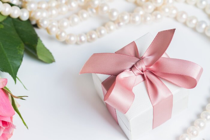 Must you send a gift if you dont attend a wedding southern living white gift box with pink ribbon negle Gallery