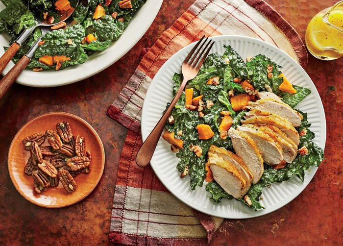 Kale and sweet potato salad with chicken recipe southern living kale and sweet potato salad with chicken recipe forumfinder Images