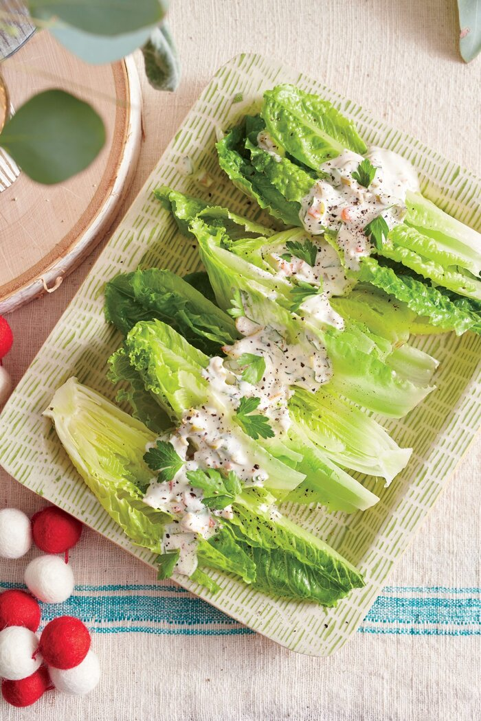 Romaine with Creamy Olive Dressing Recipe - Southern Living