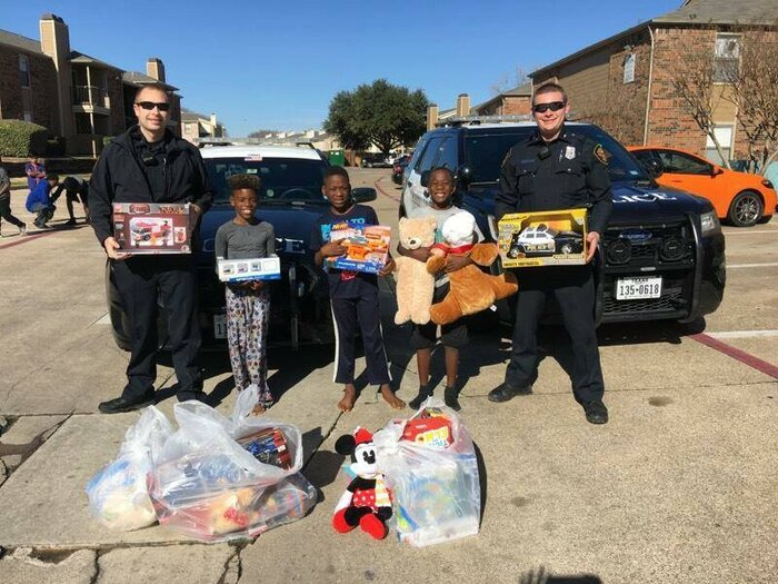 fort worth police replace stolen gifts - Christmas Gifts For Police Officers