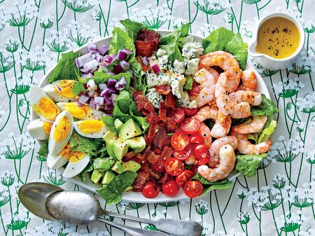 shrimp cobb salad with bacon dressing recipe southern living