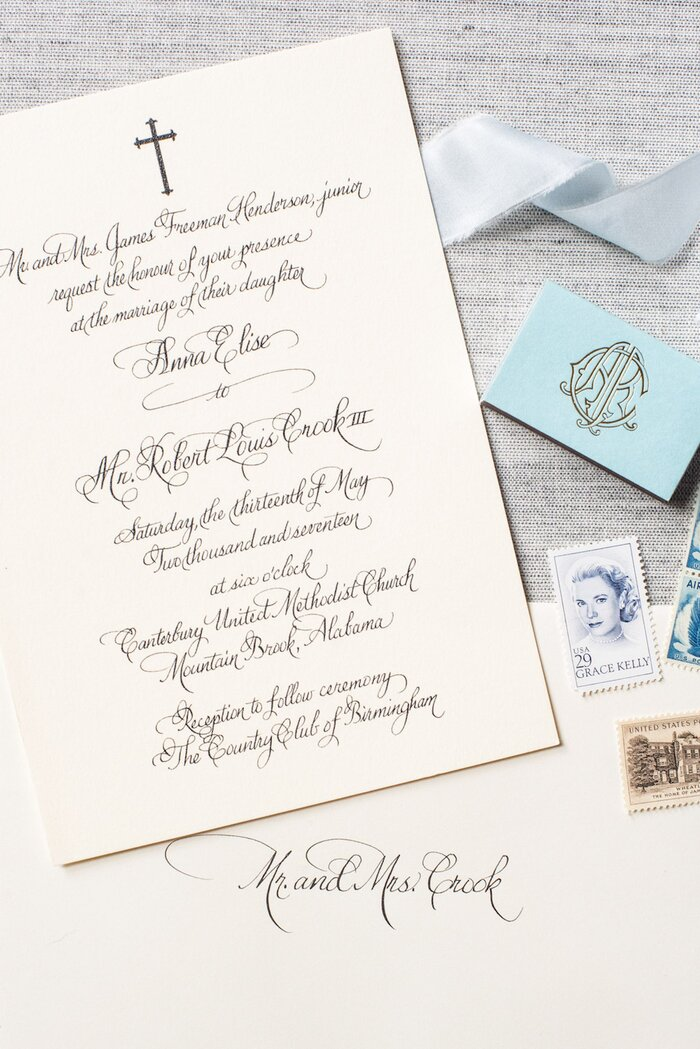 When to send wedding invitations southern living religious wedding invitation calligraphy junglespirit Images