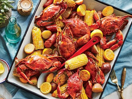 Crab Boil With Beer And Old Bay Recipe Southern Living