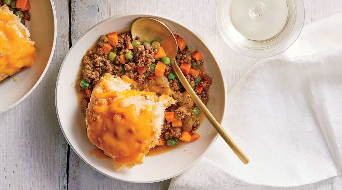 Beef Stew With Cheddar Biscuits Recipe Southern Living