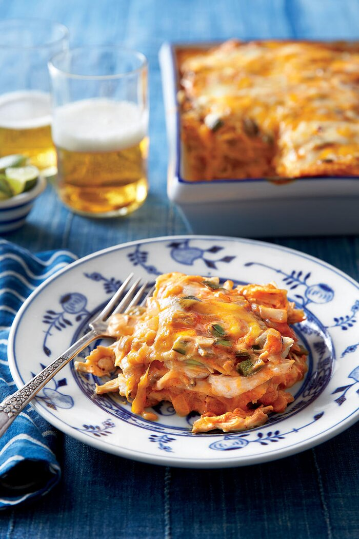 Savory enchilada recipes southern living chicken enchilada casserole forumfinder Image collections