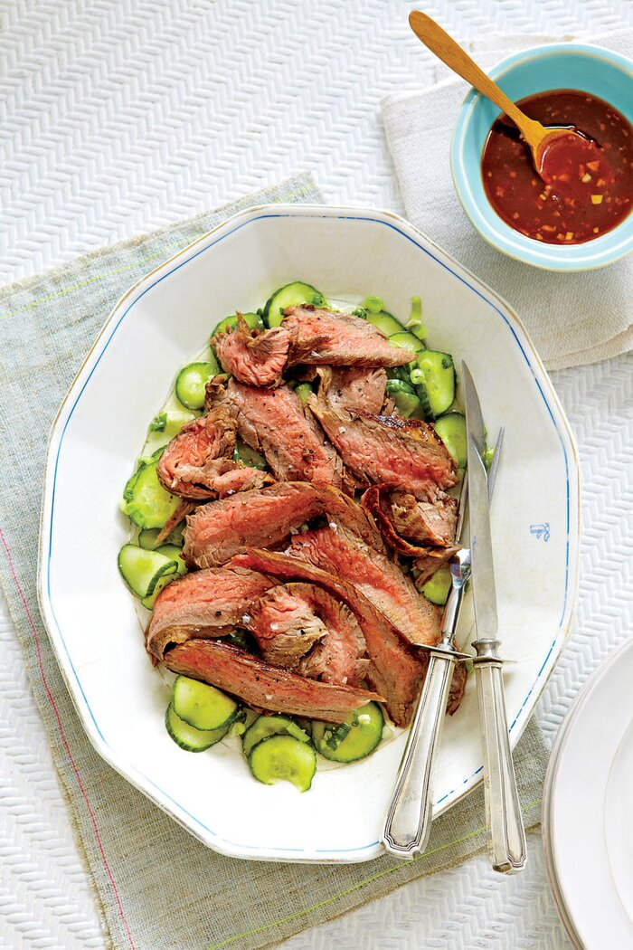 Romantic dinner recipes for two southern living flank steak and cucumber salad forumfinder Image collections